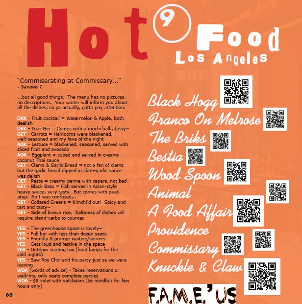 FAME'US HOT 9 - Food